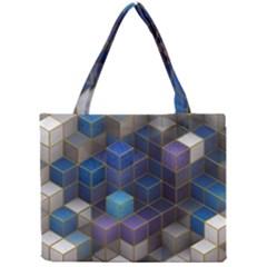 Cube Cubic Design 3d Shape Square Mini Tote Bag