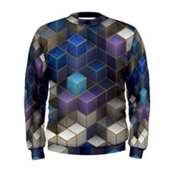 Cube Cubic Design 3d Shape Square Men s Sweatshirt