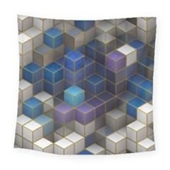 Cube Cubic Design 3d Shape Square Square Tapestry (large)