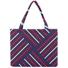 Patriotic Red White Blue Stars Mini Tote Bag