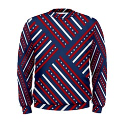 Patriotic Red White Blue Stars Men s Sweatshirt