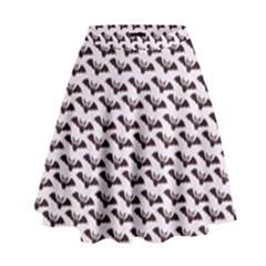 Halloween Lilac Paper Pattern High Waist Skirt