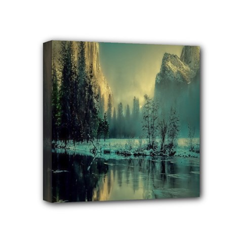Yosemite Park Landscape Sunrise Mini Canvas 4  X 4