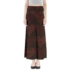 Heart Seamless Background Figure Full Length Maxi Skirt