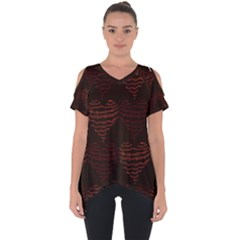 Heart Seamless Background Figure Cut Out Side Drop Tee