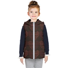 Heart Seamless Background Figure Kid s Puffer Vest