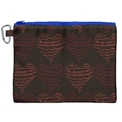 Heart Seamless Background Figure Canvas Cosmetic Bag (xxl)