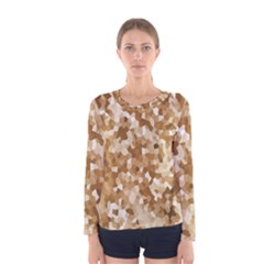 Texture Background Backdrop Brown Women s Long Sleeve Tee