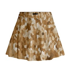 Texture Background Backdrop Brown Mini Flare Skirt