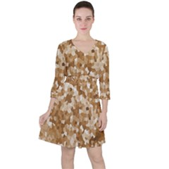 Texture Background Backdrop Brown Ruffle Dress