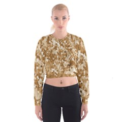 Texture Background Backdrop Brown Cropped Sweatshirt