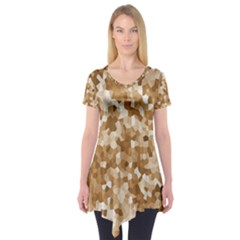 Texture Background Backdrop Brown Short Sleeve Tunic