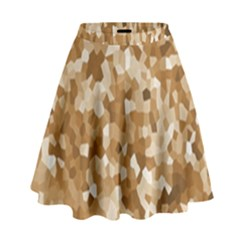 Texture Background Backdrop Brown High Waist Skirt
