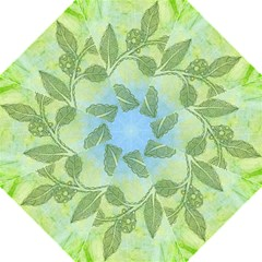 Green Leaves Background Scrapbook Hook Handle Umbrellas (medium)
