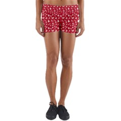 Red Christmas Pattern Yoga Shorts