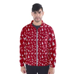 Red Christmas Pattern Wind Breaker (men)