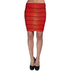 Texture Banner Hearts Flag Germany Bodycon Skirt