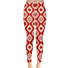 Ornate Christmas Decor Pattern Leggings
