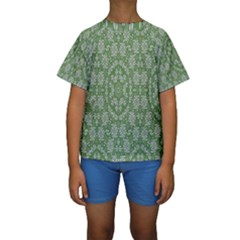 Art Pattern Design Holiday Color Kids  Short Sleeve Swimwear