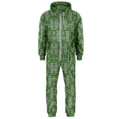 Art Pattern Design Holiday Color Hooded Jumpsuit (men)