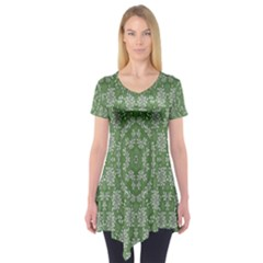 Art Pattern Design Holiday Color Short Sleeve Tunic