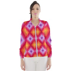 Texture Surface Orange Pink Wind Breaker (women)