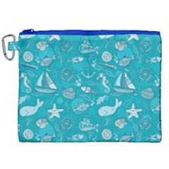 Fun Everyday Sea Life Canvas Cosmetic Bag (xxl)