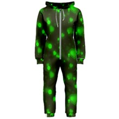Neon Green Bubble Hearts Hooded Jumpsuit (ladies)