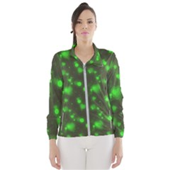 Neon Green Bubble Hearts Wind Breaker (women)