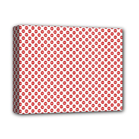 Sexy Red And White Polka Dot Deluxe Canvas 14  X 11