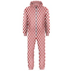 Sexy Red And White Polka Dot Hooded Jumpsuit (men)