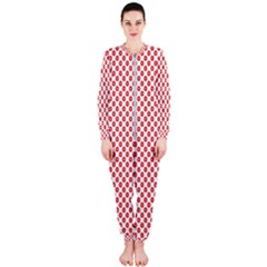 Sexy Red And White Polka Dot Onepiece Jumpsuit (ladies)