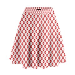 Sexy Red And White Polka Dot High Waist Skirt