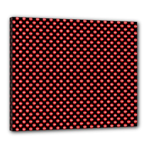 Sexy Red And Black Polka Dot Canvas 24  X 20