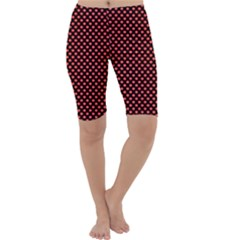 Sexy Red And Black Polka Dot Cropped Leggings