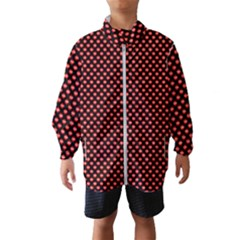 Sexy Red And Black Polka Dot Wind Breaker (kids)