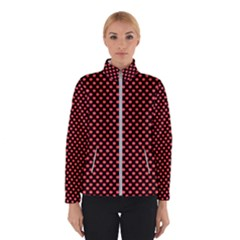 Sexy Red And Black Polka Dot Winterwear