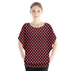 Sexy Red And Black Polka Dot Blouse