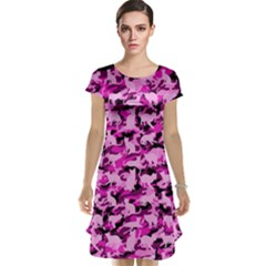 Hot Pink Catmouflage Camouflage Cap Sleeve Nightdress