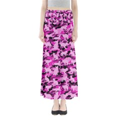 Hot Pink Catmouflage Camouflage Full Length Maxi Skirt