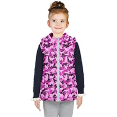 Hot Pink Catmouflage Camouflage Kid s Puffer Vest