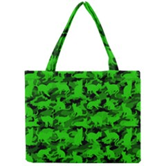 Bright Neon Green Catmouflage Mini Tote Bag