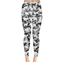 Black And White Catmouflage Camouflage Leggings