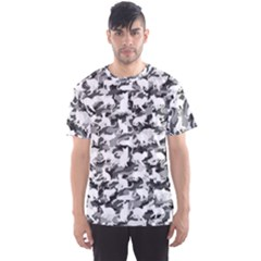 Black And White Catmouflage Camouflage Men s Sports Mesh Tee