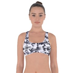 Black And White Catmouflage Camouflage Got No Strings Sports Bra