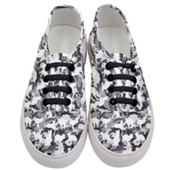 Black And White Catmouflage Camouflage Women s Classic Low Top Sneakers