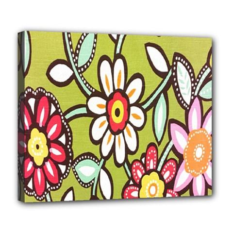 Flowers Fabrics Floral Design Deluxe Canvas 24  X 20
