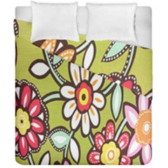 Flowers Fabrics Floral Design Duvet Cover Double Side (california King Size)