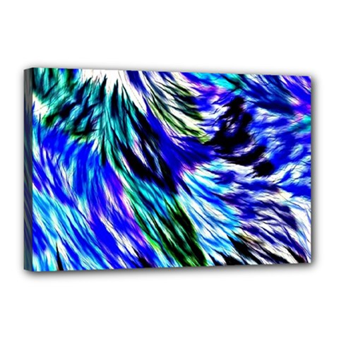 Abstract Background Blue White Canvas 18  X 12