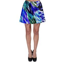 Abstract Background Blue White Skater Skirt